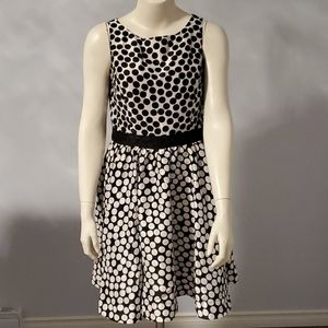 Julian Taylor sleeveless polka-dot dress